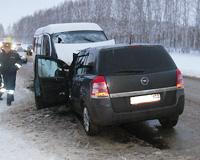 В Башкирии иномарка столкнулась с маршрутной «газелью»