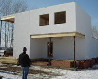 В республике стали строить дома по новой технологии