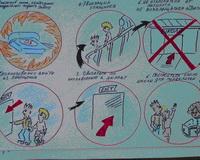 Дети нарисовали эвакуацию