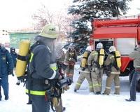 Пожарные потушили условный огонь в детском санатории