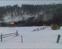 В Белорецком районе горели цистерны с нефтепродуктами