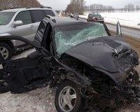 Под Уфой столкнулись четыре автомобиля
