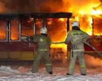В Уфе сгорел трамвай
