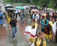 На Сабантуе несмотря на ливень побывали несколько тысяч челябинцев