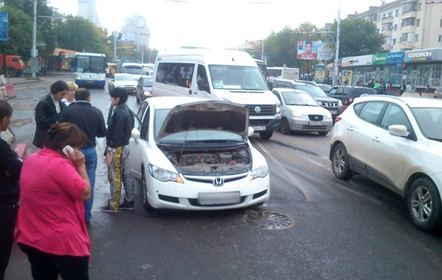 Автокапкан на проспекте в Уфе