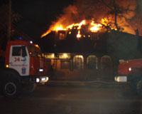 В Ростове при пожаре в частной гостинице пострадали две девушки