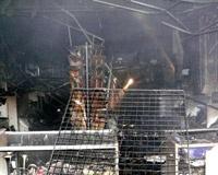 В Архангельске сегодня ночью горел автоцентр на Гайдара