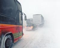 Движение по федеральным трассам затруднено из-за метели