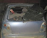 Водитель Daewoo разбился на Черевичкина, врезавшись в ограждение