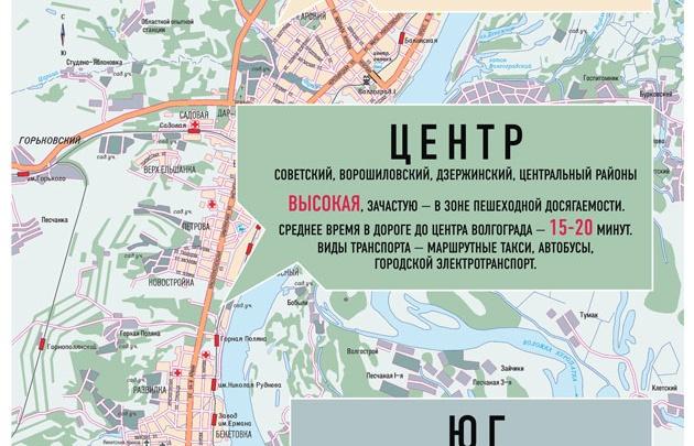 Волгоградская аренда: ближе к центру – дороже