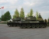 Танк Т-34 из экспозиции музея-панорамы готовят к параду Победы