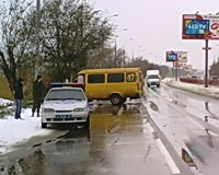 В Краснооармейском районе маршрутка столкнулась с иномаркой