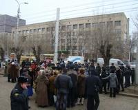 Протестующих вкладчиков «Росгражданкредит» увезли в отделение полиции