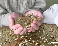 В Волгограде должник расплатился с приставами мешком мелочи