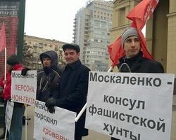 Волгоградцы вышли на пикет против генконсула Украины
