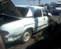 В Волгограде внедорожник протаранил пять машин