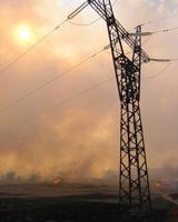 На трассе Волгоград – Москва тушат крупный степной пожар