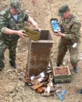 В Волгограде отправлено на переплавку три тонны оружия