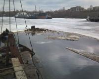 В Красноармейском районе поднят затонувший теплоход
