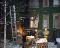 В Архангельске горела жилая двухэтажка