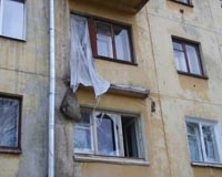 В Закамске рухнул балкон пятиэтажки