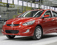 Hyundai Solaris вывернули наизнанку