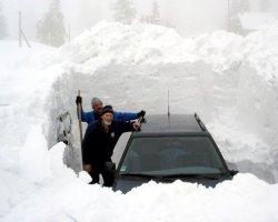 В Пермь пришел снежный циклон аварий и пробок
