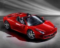 У Ferrari 458 Italia на ходу срывает крышу