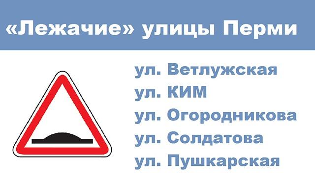 Пермь заполнят лежачие полицейские