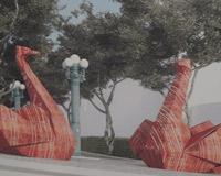 Пермяки отдали свои голоса за лебедей Артемия Лебедева