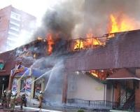 В Тольятти горел бар «Телега»