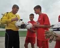 Юные футболисты области обыграли звезд советского футбола