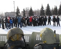 На площади Куйбышева задержали «нарушителей порядка»