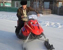 Cнегоход от телеканала «Т+В» уехал в Голышманово