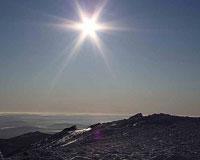 Альпинисты из Тюмени наблюдали лунное затмение в Уральских горах