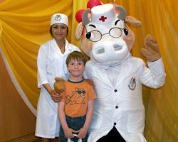 Доктор «Му» рассказал детям о пользе молочных продуктов