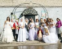Тюменские невесты провели благотворительную акцию