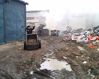 В колонии №4 мусор не вывозили, а выбрасывали на стихийную свалку