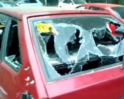За кривую парковку по стеклу монтировкой