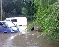Ливень в Челябинске привел к серьезному затоплению улиц