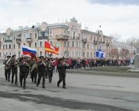 Коркинских призывников впервые проводили в армию маршем по городу