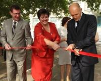 Сергей Давыдов открыл два школьных стадиона в Металлургическом районе