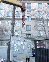 Первый забор проблемного долгостроя снесли в центре Челябинска