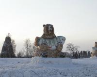 Символом лыжных гонок в Демино стал медведь