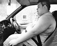 Страдающие ожирением люди чаще погибают в ДТП