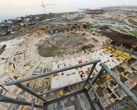 У олимпийского стадиона в Сочи появился фундамент