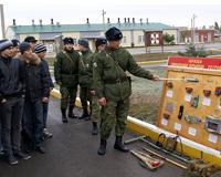 Будни батальона охраны РоАЭС увидели призывники