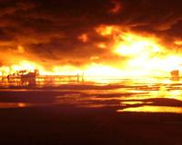 Крупный пожар произошел на складе в Кропоткине