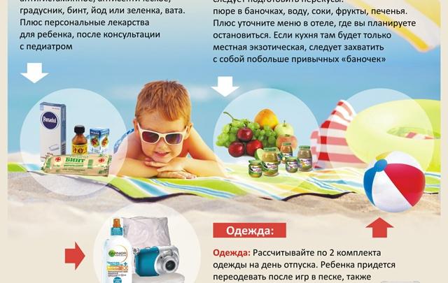 Что взять для ребенка на море?