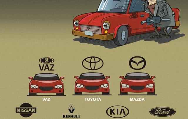 Какие автомобили чаще всего воруют?